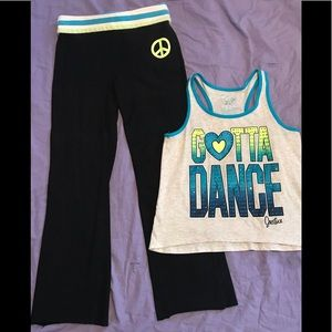 Justice girls sz 12 outfit